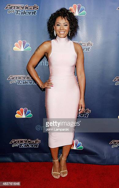Mel B attends America's Got Talent season 10 on August 12 2015 at Radio City Music Hall on August 12 2015 in New York City