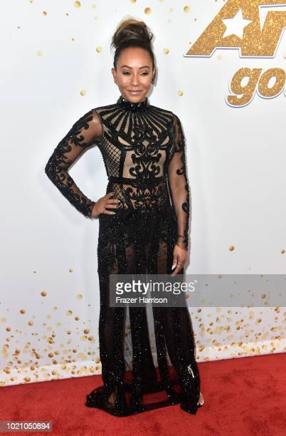 Mel B attends America's Got Talent Season 13 Live Show Red Carpet at Dolby Theatre on August 21 2018 in Hollywood California