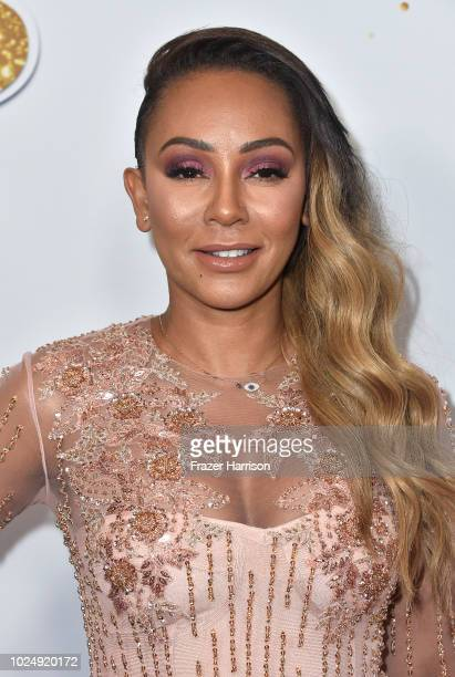 Mel B attends America's Got Talent Season 13 Live Show Red Carpet at Dolby Theatre on August 28 2018 in Hollywood California