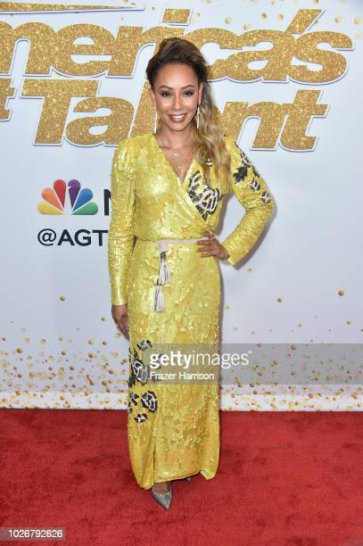 """Mel B attends """"America's Got Talent"""" Season 13 Live Show Red Carpet at Dolby Theatre on September 4, 2018 in Hollywood, California."""