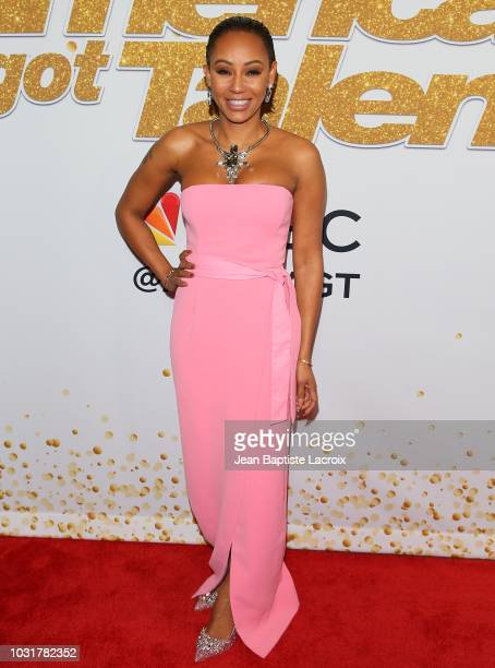 "Mel B attends ""America's Got Talent"" Season 13 Live Show Red Carpet on September 11, 2018 in Los Angeles, California."