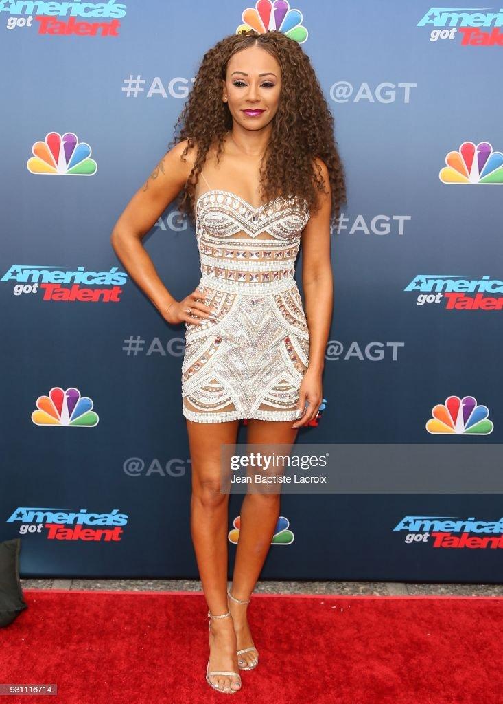 Mel B attends 'America's Got Talent' Season 13 on March 12, 2018 in Pasadena, California.