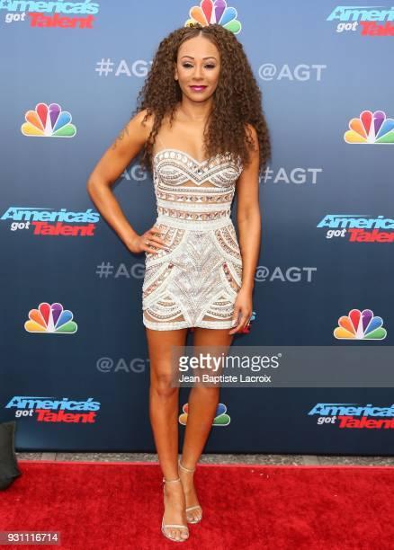Mel B attends 'America's Got Talent' Season 13 on March 12 2018 in Pasadena California