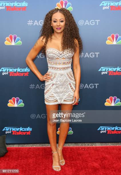 Mel B attends 'America's Got Talent' Season 13 on March 12 2018 in Pasadena California