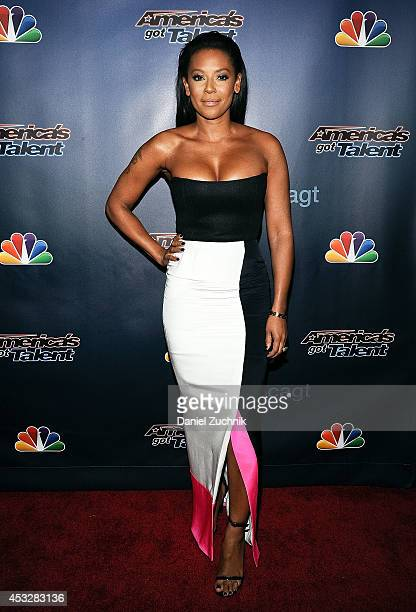 Mel B attends America's Got Talent season 9 post show red carpet event at Radio City Music Hall on August 6 2014 in New York City