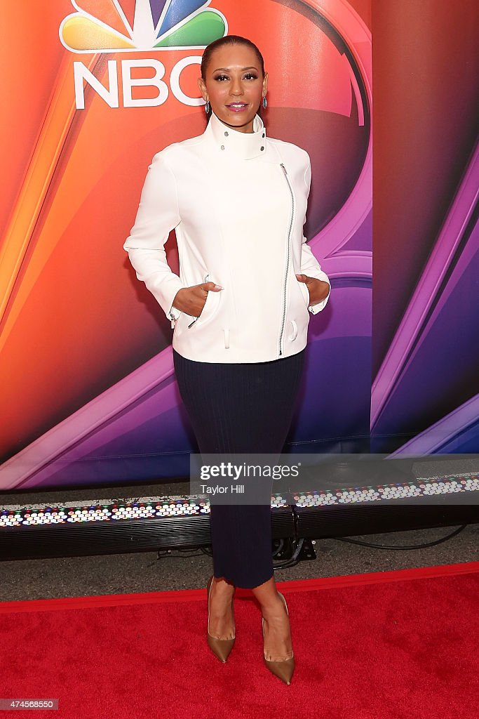 Mel B attends the 2015 NBC Upfront Presentation Red Carpet Event at Radio City Music Hall on May 11, 2015 in New York City.