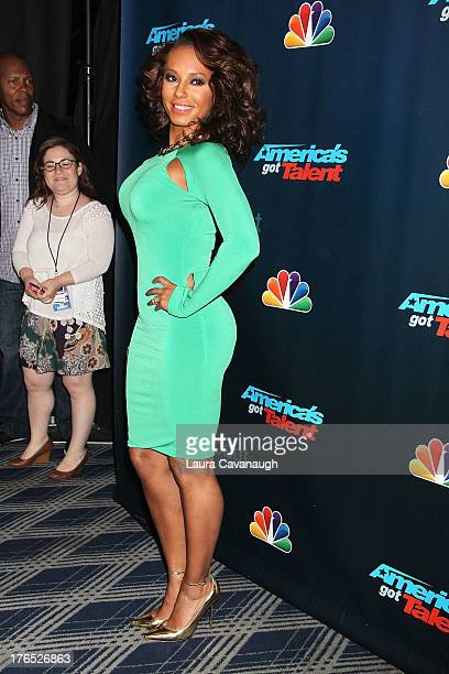 "Mel B attends the ""America's Got Talent"" Post Show Red Carpet at Radio City Music Hall on August 14, 2013 in New York City."