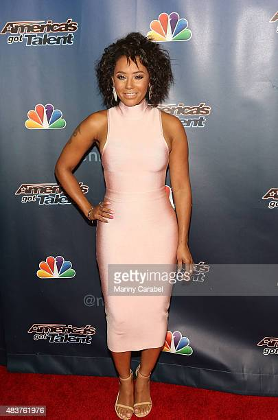 Mel B attends the 'America's Got Talent' PostShow Red Carpet Event at Radio City Music Hall on August 12 2015 in New York City