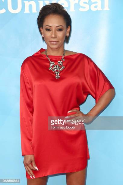 Mel B attends the NBCUniversal Summer Press Day 2018 at Universal Studios Backlot on May 2, 2018 in Universal City, California.