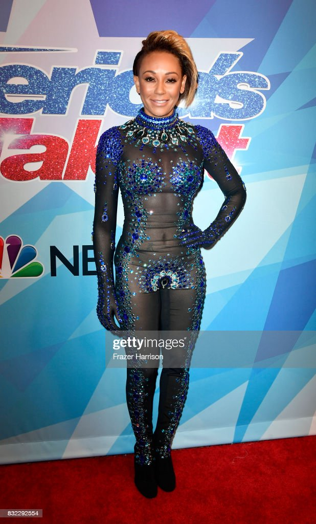 Mel B, attends the Premiere Of NBC's 'America's Got Talent' Season 12 at Dolby Theatre on August 15, 2017 in Hollywood, California.