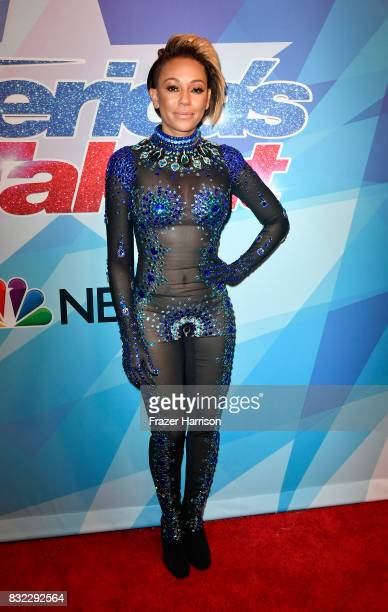 Mel B attends the Premiere Of NBC's 'America's Got Talent' Season 12 at Dolby Theatre on August 15 2017 in Hollywood California