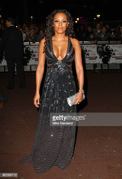 Mel B attends the UK Premiere of 'Dead Man Running' at Odeon Leicester Square on October 22 2009 in London England
