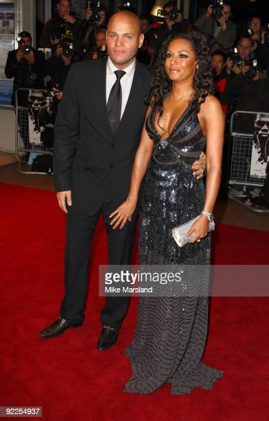 Mel B attends the UK Premiere of 'Dead Man Running' at Odeon Leicester Square on October 22, 2009 in London, England.