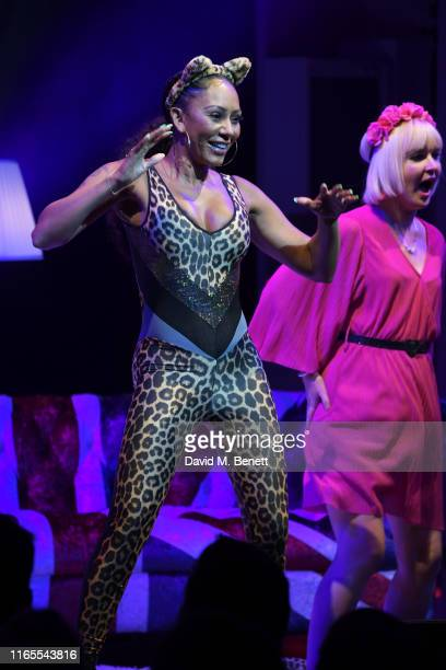 Mel B dances with fans during A Brutally Honest Evening With Mel B in support of Women's Aid at The Savoy Theatre on September 1 2019 in London...