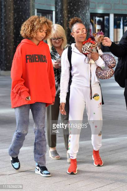Mel B her daughter Phoenix Chi Gulzar seen at the ITV Studios on September 17 2019 in London England