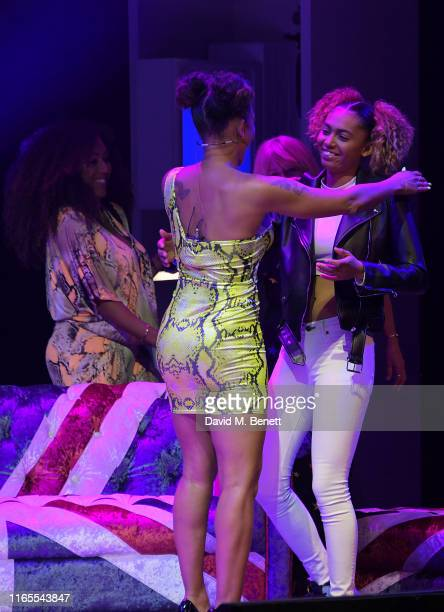 Mel B invites daughter Phoenix Chi mother Andrea Brown and sister Danielle Brown on stage during A Brutally Honest Evening With Mel B in support of...