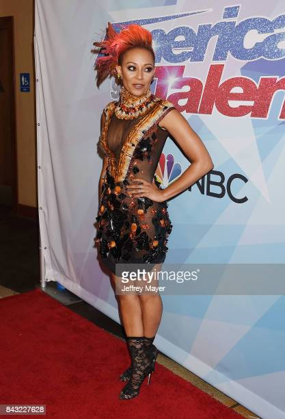 Mel B Melanie Brown arrives at the NBC's 'America's Got Talent' Season 12 Live Show at the Dolby Theatre on September 5 2017 in Hollywood California