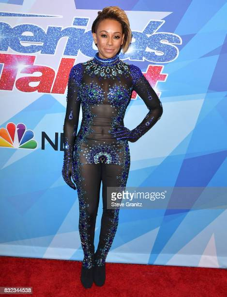 Mel B Melanie Brown arrives at the Premiere Of NBC's America's Got Talent Season 12 at Dolby Theatre on August 15 2017 in Hollywood California