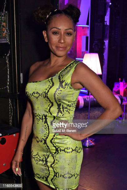 "Mel B poses backstage during ""A Brutally Honest Evening With Mel B"" in support of Women's Aid at The Savoy Theatre on September 1, 2019 in London,..."