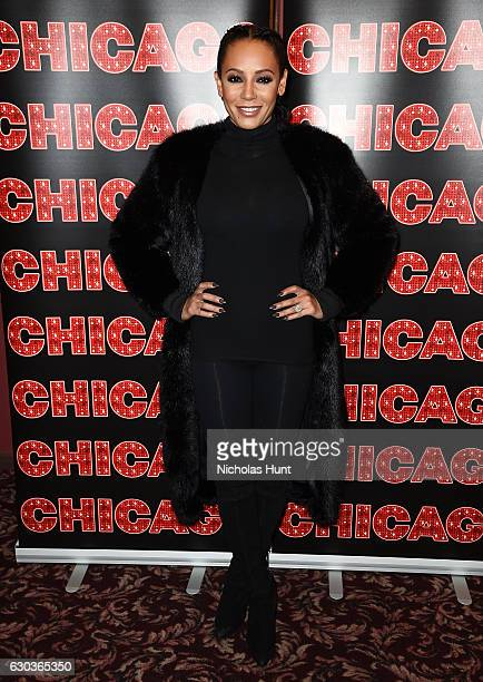 Mel B returns to Broadway's 'Chicago' at Sardi's on December 21 2016 in New York City