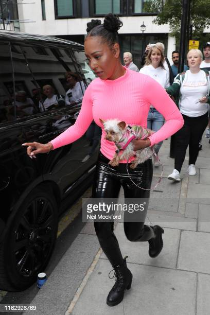 Mel B seen leaving BBC Radio 2 on July 19, 2019 in London, England.