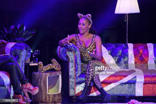 Mel B speaks on stage during A Brutally Honest Evening With Mel B in support of Women's Aid at The Savoy Theatre on September 1 2019 in London England