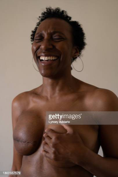 Mel Bastien photographed in her bedroom on September 24,2020 in London, England. Bastien had just lost her father when she found out she had breast...