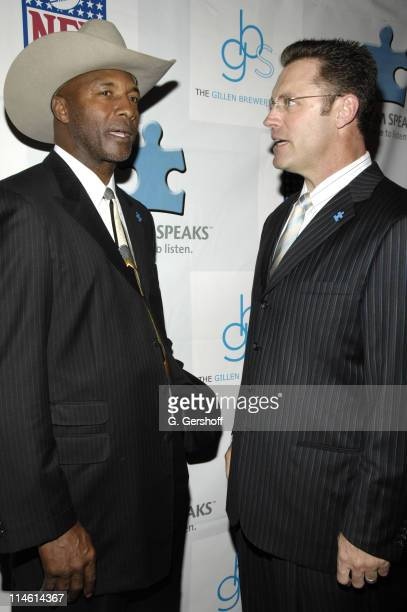 Mel Blount and Howie Long during Kickoff for a Cure II Benefit Gala at The Waldorf=Astoria in New York City New York United States