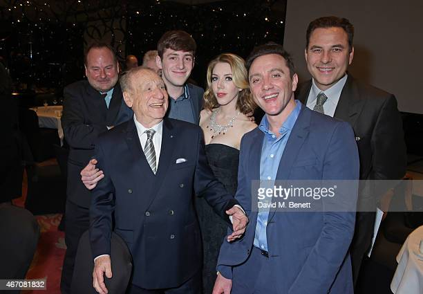 Mel Brooks Alex Edelman Katherine Ryan Peter Serafinowicz and David Walliams attend the Mel Brooks BFI Fellowship Dinner at The May Fair Hotel on...