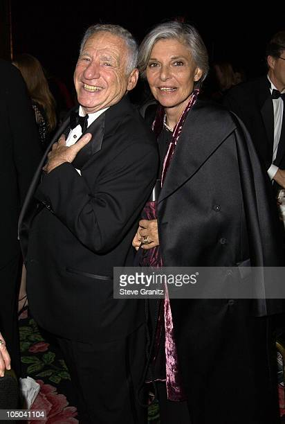 Mel Brooks and Anne Bancroft during 55th Annual Writers Guild of America West Awards Arrivals at Beverly Hilton Hotel in Beverly Hills California...