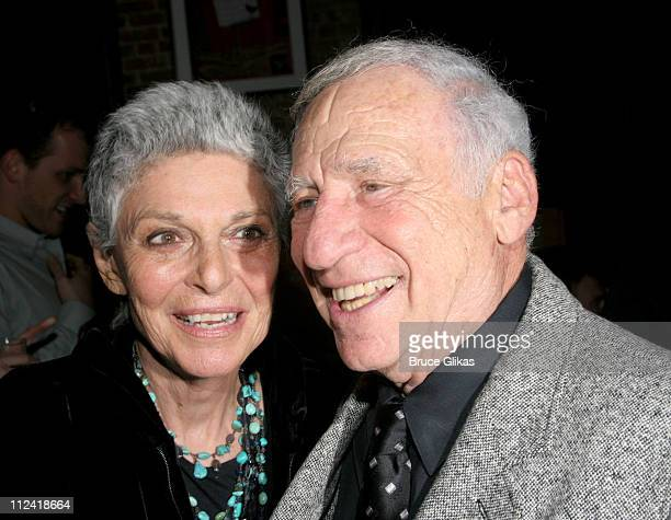 "Mel Brooks and Anne Bancroft during The Cast of ""The Producers"" Welcome Richard Kind and Alan Ruck of ""Spin City"" to Broadway at The St. James..."