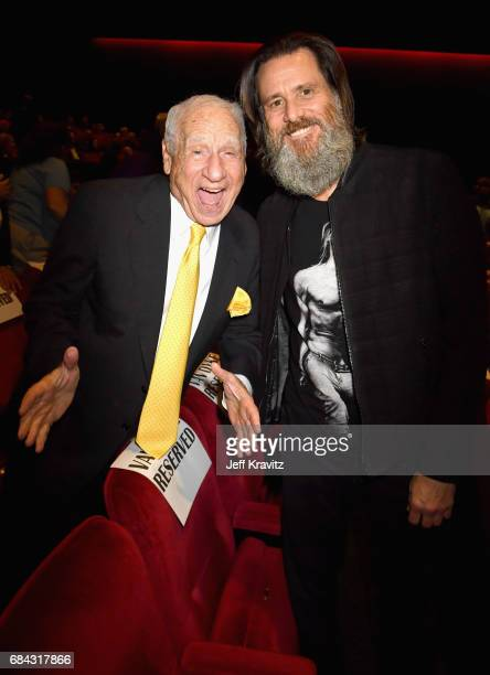 Mel Brooks and Jim Carrey at the LA Premiere of If You're Not In The Obit Eat Breakfast from HBO Documentaries on May 17 2017 in Beverly Hills...