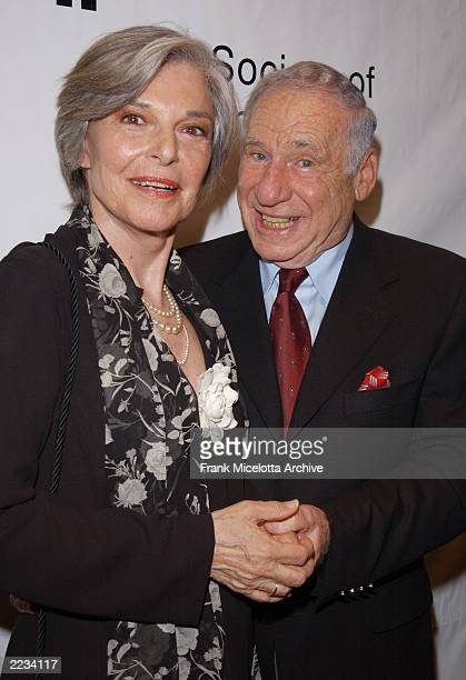 Mel Brooks and wife Anne Bancroft backstage before Springtime for Mel Brooks Musical Moments from His Movies presented by the Film Society of Lincoln...