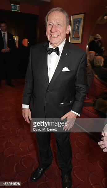 Mel Brooks attends a postshow drinks reception following his first UK solo show 'Mel Brooks Live In London' at The Prince of Wales Theatre on March...