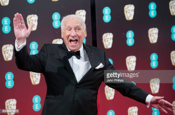 Mel Brooks attends the 70th EE British Academy Film Awards at Royal Albert Hall on February 12 2017 in London England