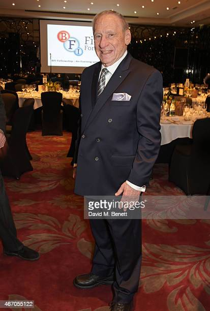 Mel Brooks attends the Mel Brooks BFI Fellowship Dinner at The May Fair Hotel on March 20 2015 in London England