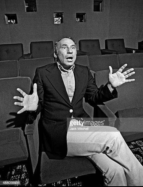 Mel Brooks photographed in NYC in 1976 the year he directed and starred in 'Silent Movie'