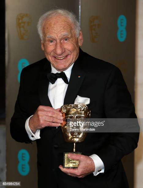 Mel Brooks with his BAFTA attends the official after party for the 70th EE British Academy Film Awards at The Grosvenor House Hotel on February 12...