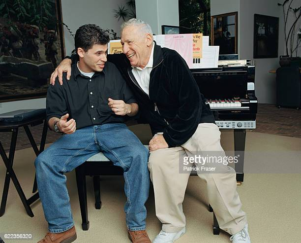 Mel Brooks with Son Max Brooks