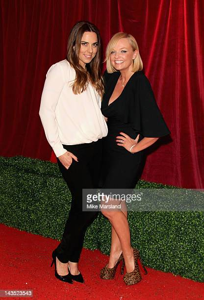 Mel C and Emma Bunton attend the British Soap Awards at The London Television Centre on April 28 2012 in London England