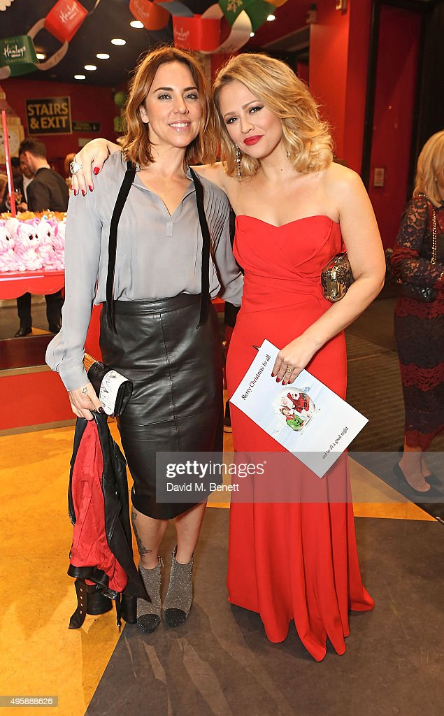 Mel C and Kimberley Walsh attend the press night after party for 'Elf: The Musical' at the Dominion Theatre on November 5, 2015 in London, England.