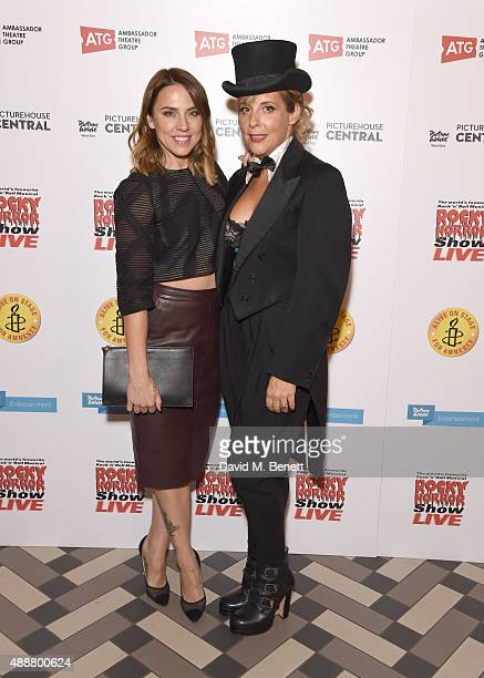 Mel C and Mel Giedroyc attends the after party following the gala charity performance of 'Rocky Horror Show' at Picturehouse Central on September 17...
