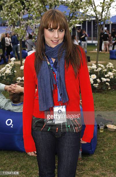 Mel C during O Wireless Festival 2007 Hyde Park Day 4 Backstage at Hyde Park in London Great Britain