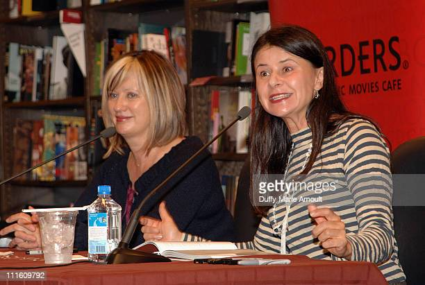 Mel Clark and Tracey Ullman during Tracey Ullman Promotes Her New Book Knit 2 Together September 28 2006 at Borders Columbus Circle in New York City...