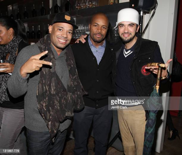 DJ Mel DeBarge DJ DNice and DJ Cassidy attend a Hennessey Black party to celebrate DJ DNice signing to Roc Nation DJ's at The Cooper Square Hotel on...