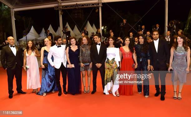 Mel Einda El Asfour, Salim Kechiouche, Alexia Chardard, Lou Luttiau, Shain Boumedine, Ophelie Bau, Hafsia Herzi and the cast of the crew of the film...
