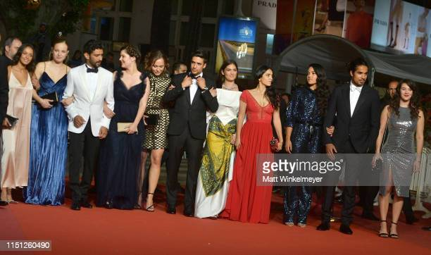 Mel Einda El Asfour, Salim Kechiouche, Alexia Chardard, Lou Luttiau, Shain Boumedine, Ophelie Bau, Hafsia Herzi and the cast of the crew the...