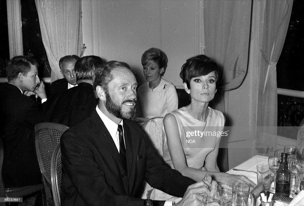 Mel Ferrer and Audrey Hepburn, actors. HA