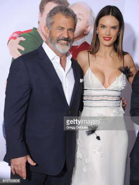 Mel Gibson and Alessandra Ambrosio arrive at the premiere of Paramount Pictures' 'Daddy's Home 2' at Regency Village Theatre on November 5 2017 in...