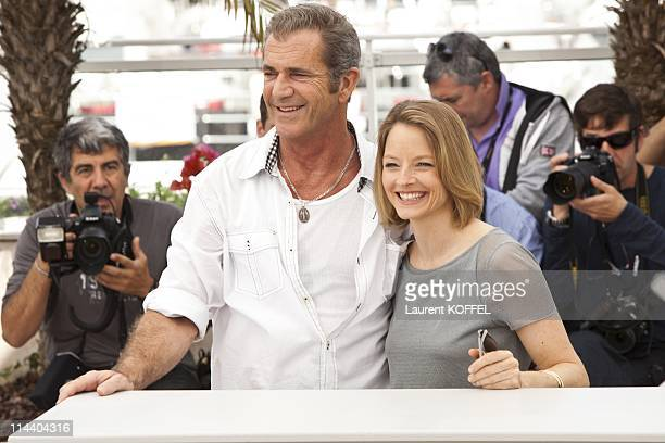 Mel Gibson and Jodie Foster attend 'The Beaver' Photocall during the 64th Cannes Film Festival at Palais des Festivals on May 18 2011 in Cannes France